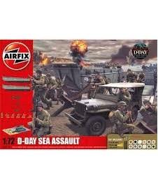Set D-day Sea Assault Con Pintura Y Pegamento