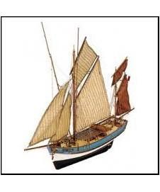 Barco Madera En Kit Marie Jeanne
