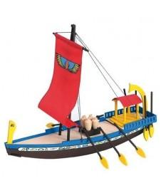 Barco Egipcio Madera Con Pinturas