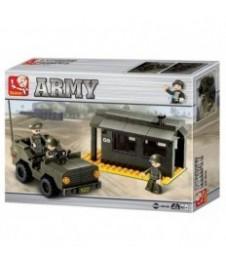 Vehiculo Militar Y Garita