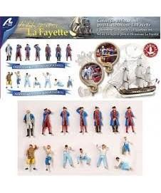 Figuras En Metal Barco La Fayette 14 Uds.