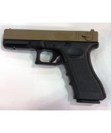 Pistola Metal Glock Negra Y Tierra