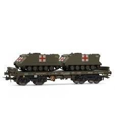 Vagon Plataforma Con Dos Toas Militar