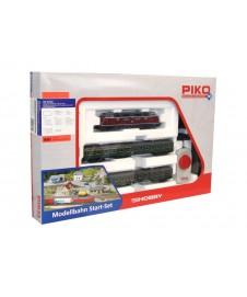 Set Inicio H0, Diesel Br220 Con Dos Vagones Pasajeros