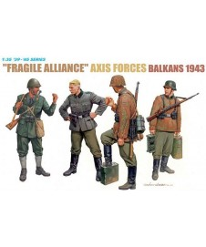 """fragile Alliance"" Axis Forces Balkans 1943"