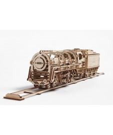 Locomotora Vapor En Kit Madera