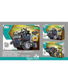 Kit Camion Rc .tekno Bricks 2 En 1 486 Pcs.