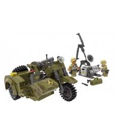 Bloques Moto Militar Con Sidecar