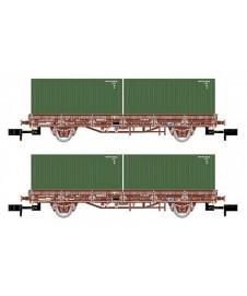 Vagon Plataforma Con Contenedores Militar