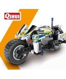 Moto De Policia Pull Back 193 P