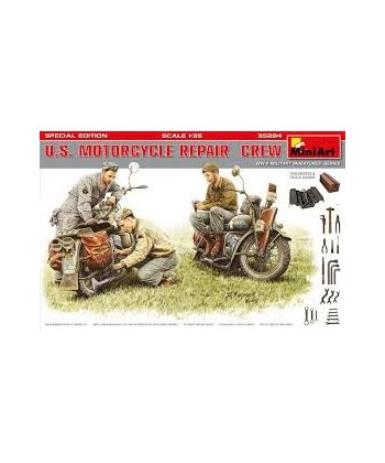 U.S. MOTORCYCLE REPAIR CREW WWII